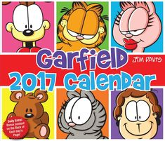 A funny day-to-day calendar with full-color Garfield comic strip on every page. There is humor galore in store in this daily cartoon calendar about the self-centered, lasagna-loving, fat cat and his funny friends - Liz, Jon and Odie.