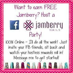 Host a party today and earn FREE Jamberry nail wraps!! www.megantimm.jamberrynails.net www.facebook.com/Jamswithmegan