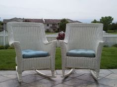 pretty wicker rocking chairs