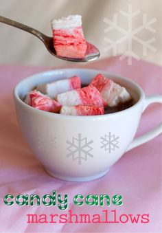 Candy Cane Peppermint Marshmallows