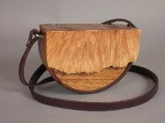 "Il Nodo (Burl) Bag - Flap front  made of live edge of maple burl.   Body of bag of Black walnut. 8.5"" x 3""x 6"""