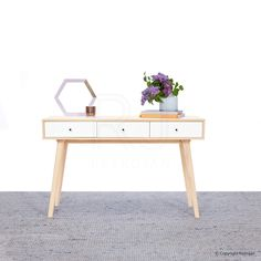 Andro Modern Scandinavian Hall Table - Buy Entrance Table Console Online