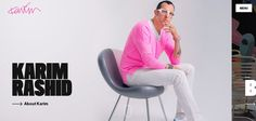 Karim Rashid Website is a Web Design Inspiration Next Web, Web Design Projects, Karim Rashid, Best Web Design, Web Design Inspiration, New Trends, Ecommerce, Website, Awesome