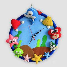 現代アートなモダン キャンバスアート 壁 壁掛け 時計  壁時計 キャラクター 海 魚 貝 かに 出産祝い 子供部屋【納期】お取り寄せ2~3週間前後で発送予定【送料無料】【fs04gm】ポイント【楽天市場】