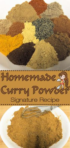 It's a good idea to make your own spice blends, so you're assured that only the finest ingredients are used. Not only that, you'll save loads of money! My original curry powder recipe is easy to make, tastes extremely better than curry powder you buy in s Curry Seasoning, Seasoning Mixes, Homemade Spices, Homemade Seasonings, Homemade Spice Blends, Homemade Curry Powder, Ayurveda, Fun Cooking, Cooking Recipes