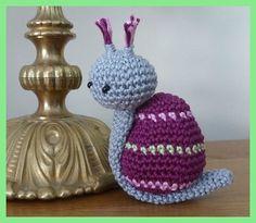 Amigurumi, crochet, escargot coco1