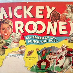 Mickey Rooney paper doll   1941 Mickey Rooney Paper Doll punch-out book