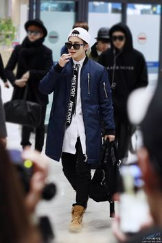 150118- BTS Park Jimin @ Incheon Airport || sxmmie*