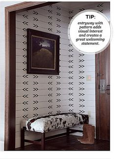 Geometric Wall Arrows pattern Allover  Stencil better than wallpaper or vinyl decals Home Decor. $29.00, via Etsy.