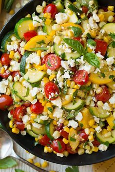 Summer Harvest Salad - This salad 4 of the classic summer veggies – zucchini, squash, corn and tomatoes, and it's a great way to try something a new with them!Even though this salad requires some cooking it's still easy to prepare and it's ready in no time!
