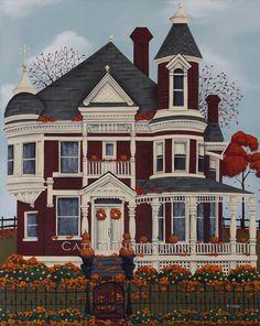 Folk Art automne impression Place d'érable