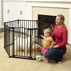 North States Superyard 3 In 1 Metal Baby Gate. Can Be Setup As A Baby Gate  Or A Playpen.
