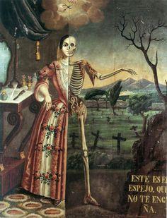 Memento Mori / Allegory of Death - Tomás Mondragón Memento Mori, Creepy, Scary, Dance Of Death, Skeleton Art, Danse Macabre, E Mc2, Arte Horror, Medieval Art