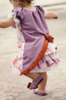 Couture Cutie toddler dress with bustle back