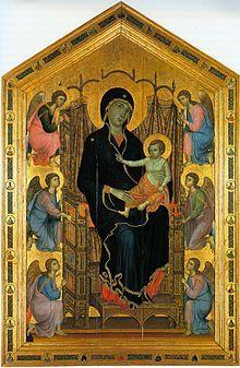 Duccio di Buoninsegna - Madonna Rucellai (1285 ) - Uffizi, Firenze