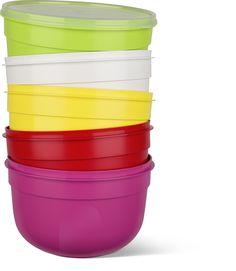 boites de conservation plastique avec couvercle souple SUPERLINE d'Emsa depuis 1972 mais avec de jolis coloris 2016!