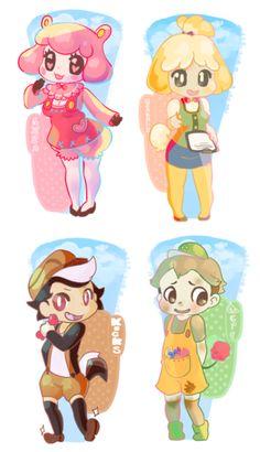 Humanized Animal Crossing