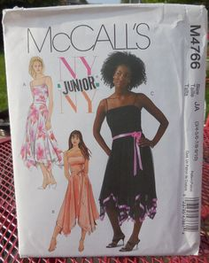 McCall's 4766  Teen Girls' Gowns  Prom Dresses  NY by Clutterina