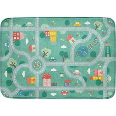 ACHOKA verkeerskleed ultrazacht 130 x 180 cm mint Dickie Toys, Sport Matte, Kids Rugs, Quilts, Blanket, Home Decor, Polyester Material, Products, Nature