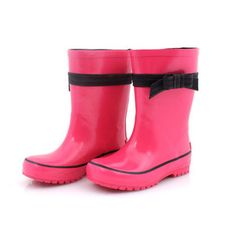Rain Boot Bow Fuchsia now featured on Fab.