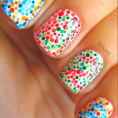 Colorblind nails! Love!