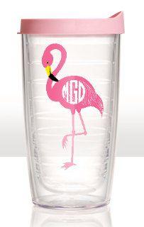 Monogrammed Flamingo Tervis Tumbler  NOT VINYL by kariondesigns, $32.00