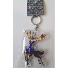 Pokemon Center 2013 Xerneas Character Keychain