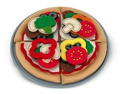 Best Toys for Kids 2014: www.pipedreamtoys.com Felt Play Food - Pizza Set