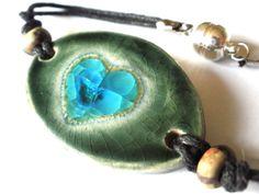 Glazed ceramics bracelet