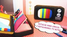 Estuche Lápices y Rotuladores TV Retro
