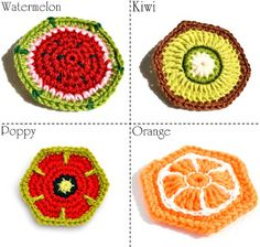 crochet #coaster pattern orange motif