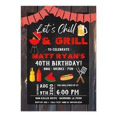 Chill & Grill Invitation, BBQ Invitation