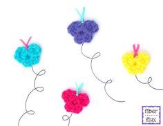 One Round Butterflies, free crochet pattern from Fiber Flux