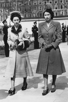 Princesses Elizabeth and Margaret.