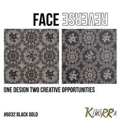 Most of our Kimorra laminate sheets have a different design on the face & reverse - two ways to be creative!  #veneer #design #Cheshire #fabricveneers #black #gold #pattern #interiors #furniture #furnituredesign #officefurniture #hotelrefit #custom #bespoke