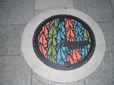 Manhole covers like these would force me to have to remember to look up!