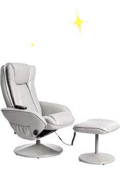 Massage Chair - JC Home Massage chair, one size, Grey       90% Polyurethane, 10% Leather Powder     Breathable leather lining     soft ottman     Massage     metal base w/bonded leather     Material Type: Faux Leather Metal Wood Foam     Fabric Type: 90% Polyurethane, 10% Leather Powder     Included Components: Recliner,Ottoman,Hardware Box
