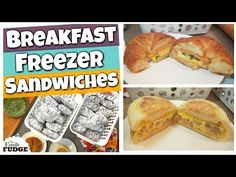 In todays video I'm making 2 DELICIOUS Freezer Breakfast Sandwiches. Breakfast Freezer Meal Prep is a must do for those busy mornings and these 2 sandwiches . Chicken Freezer Meals, Freezer Cooking, Bulk Cooking, Cooking Videos, Croissant Breakfast Sandwich, Freezer Breakfast Sandwiches, Meals For Four, Large Family Meals, Budget Meal Prep