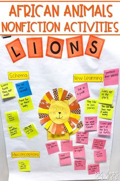 Fun and engaging lesson plans and activities to learn about African animals. Great addition to your study of zoo animals! Writing responses, anchor charts, crafts, and more! Click to check out this amazing resource!