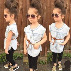 From general topics to more of what you would expect to find here, fashionkids. Little Girl Outfits, Cute Outfits For Kids, Toddler Girl Outfits, Toddler Fashion, Girl Fashion, Fashion Kids, Outfits Niños, Cool Outfits, Girls Tunics