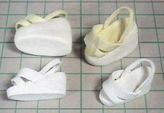 Barbie Shoes - Bildanleitung - Schnittvorlage - free pattern and step by step tutorial