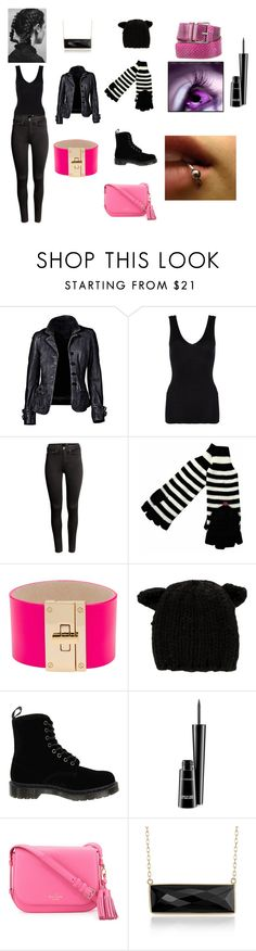 """Zoe Anna Blue Silent Scream"" by plaspenny ❤ liked on Polyvore featuring Hanro, H&M, CC SKYE, Eugenia Kim, Dr. Martens, MAC Cosmetics, Kate Spade, Blue Nile and Derek Lam"