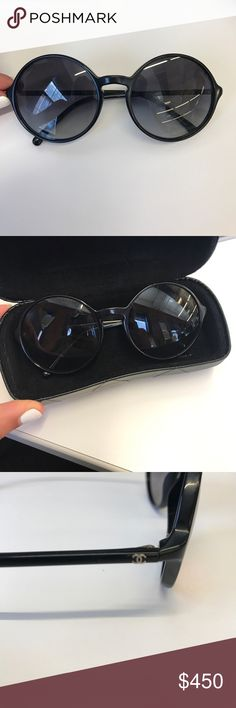 CHANEL NEW Black Sunglasses-WILL TAKE BEST OFFER Bought over Memorial Day Weekend in Nantucket, barely worn. Look BRAND NEW. Come with hard case, soft case and duster. CHANEL Accessories Sunglasses