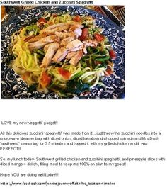 Southwest Grilled Chicken and Zucchini Spaghetti Jennie's Journey Of Faith