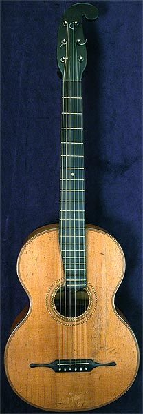 Early Musical Instruments, antique Romantic Stauffer school Guitar by A. Lutz & Comp. around 1850