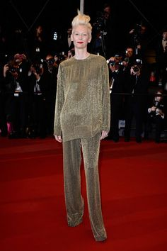 Tilda Swinton in Haider Ackermann - Cannes Film Festival 2013