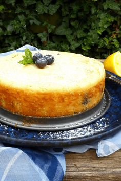 This lemon kladdkaka is made with spelt flour and has white chooclate and blueberries. Kladdkaka is a no fail cake, so simple and quick to make.