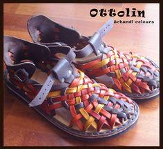 ručně šité Mary Janes, Footwear, Socks, Women Sandals, Huaraches, Leather, Patterns, Awesome, Ideas
