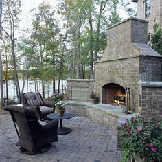 Outdoor Fireplace Design, Pictures, Remodel, Decor and Ideas - page 4