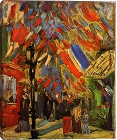 Fourteenth of July Celebration in Paris by Vincent Van Gogh